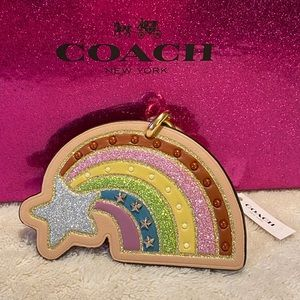 Coach Rainbow keychain/key fob